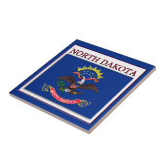 North Dakota State Flag Design Tile