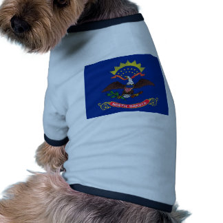 North Dakota State Flag Dog T-shirt