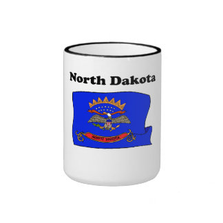 North Dakota State Flag Mugs