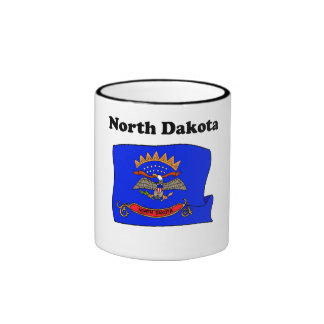 North Dakota State Flag Coffee Mugs
