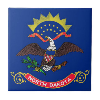 North Dakota State Flag Ceramic Tiles