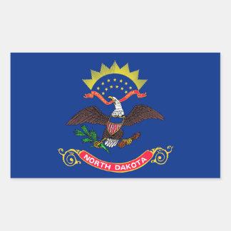 north dakota state flag united america republic sy rectangular sticker