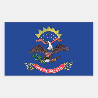 North Dakota State Flag, United States Rectangular Sticker
