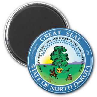 North Dakota state seal america republic symbol fl 6 Cm Round Magnet