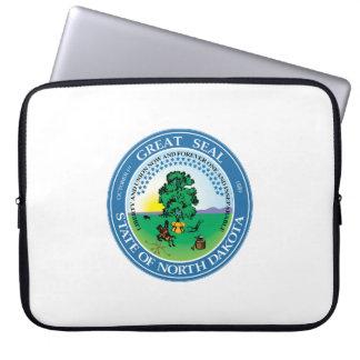 North Dakota state seal america republic symbol fl Laptop Sleeves