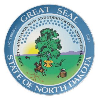 North Dakota state seal america republic symbol fl Party Plates