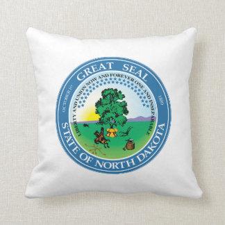North Dakota state seal america republic symbol fl Throw Pillow