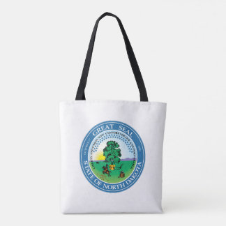 North Dakota state seal america republic symbol fl Tote Bag