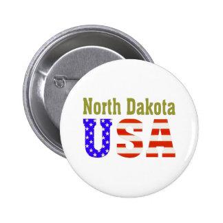 North Dakota USA Aashen alpha 6 Cm Round Badge