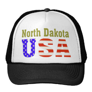 North Dakota USA Aashen alpha Trucker Hat