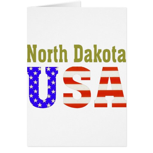 North Dakota USA Aashen alpha Greeting Card