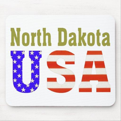 North Dakota USA Aashen alpha Mouse Pads