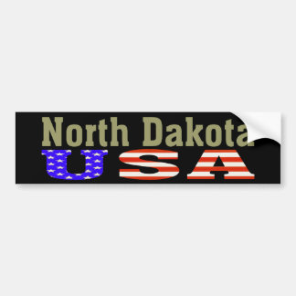 North Dakota USA! Bumper Sticker
