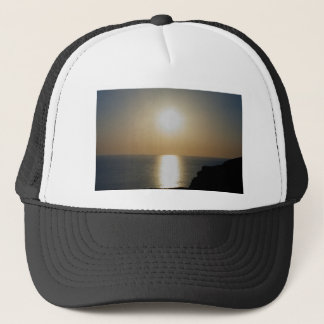 North Devon Hartland Volcanic Ash Sunset (4) Trucker Hat