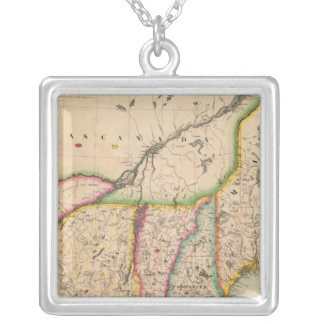 North east United States 43 Silver Plated Necklace