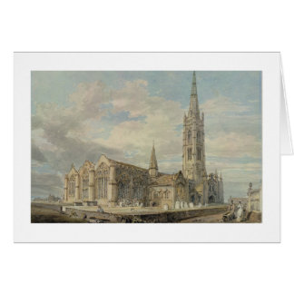 North-east View of Grantham Church, Lincolnshire, Card