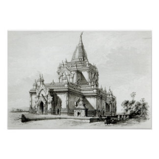 North Eastern view of Gaudapalen Temple at Pagan Poster