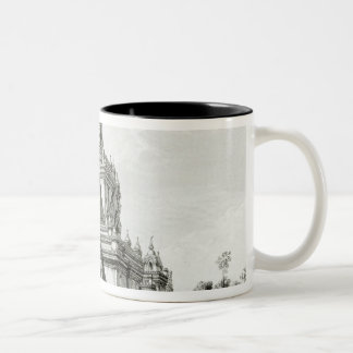 North Eastern view of Gaudapalen Temple at Pagan Two-Tone Coffee Mug