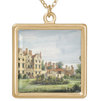 North Front, Old Palace, from the Queen's Garden, Gold Plated Necklace