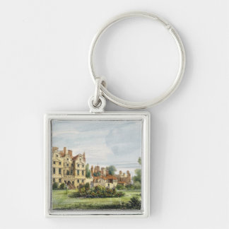 North Front, Old Palace, from the Queen's Garden, Silver-Colored Square Key Ring