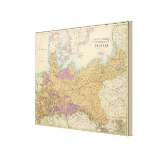 North German Confederation and Prussia Canvas Print