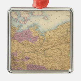 North German Confederation and Prussia Silver-Colored Square Decoration