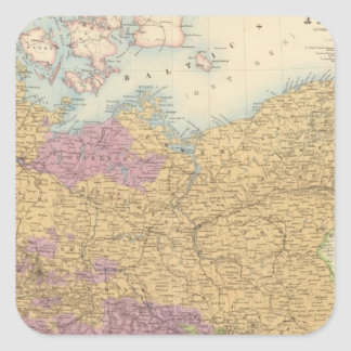 North German Confederation and Prussia Square Sticker