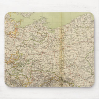 North Germany Atlas Map Mouse Pad