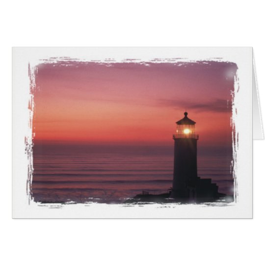 North Head Lighthouse Beacon Of Hope Pacific Coast Card