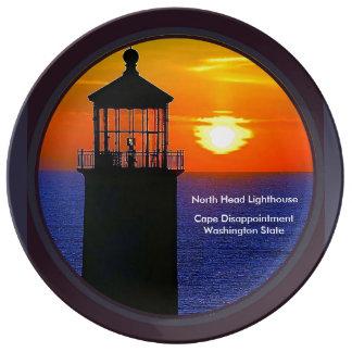 North Head Lighthouse, Ilwaco, Washington Plate