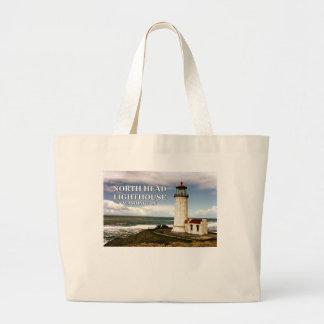 North Head Lighthouse, Washington Large Tote Bag