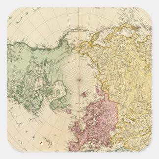 North Hemisphere map Square Sticker