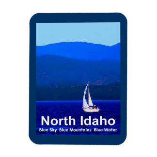North Idaho Blue Rectangular Photo Magnet