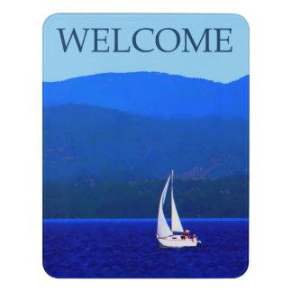 North Idaho Blue - Welcome Door Sign