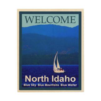 North Idaho Blue - Welcome Wood Wall Art