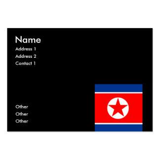 North Korea Business Card Template