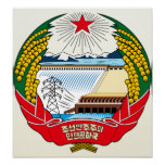 North Korea Coat of Arms detail Poster