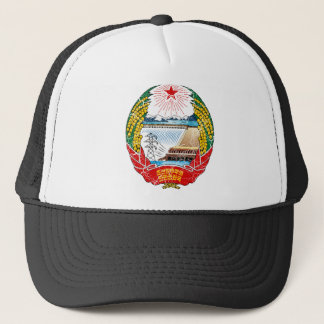 North Korea Coat Of Arms Trucker Hat