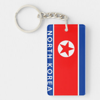 north korea country flag symbol name text key ring