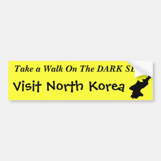 "North Korea ""Dark Side"" Funny Bumper Sticker"