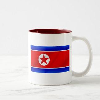 North Korea Democratic Peopes Republic flag Two-Tone Mug