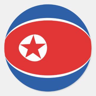 North Korea Fisheye Flag Sticker