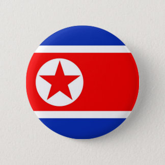North Korea Flag 6 Cm Round Badge