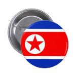 North Korea Flag 6 Cm Round Badge