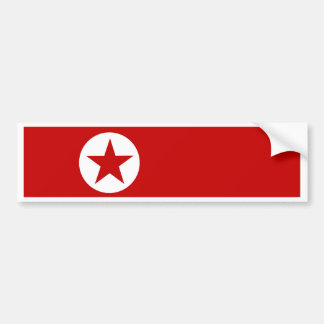 North Korea Flag Bumper Sticker