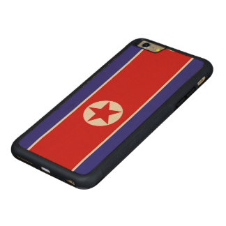 North Korea Flag Carved Maple iPhone 6 Plus Bumper Case