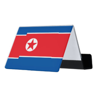 North Korea Flag Desk Business Card Holder