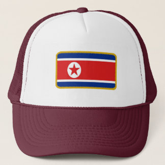 North Korea flag embroidered effect hat
