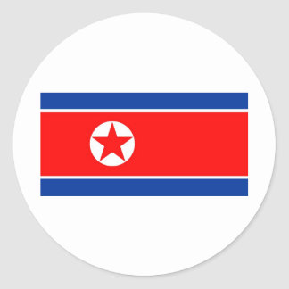 North Korea flag Round Sticker