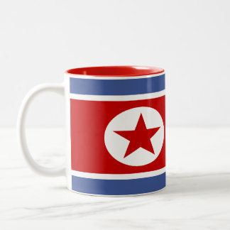 North Korea Flag Two-Tone Coffee Mug